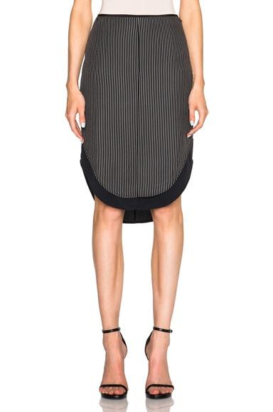 rag & bone Madison Skirt in Black & White