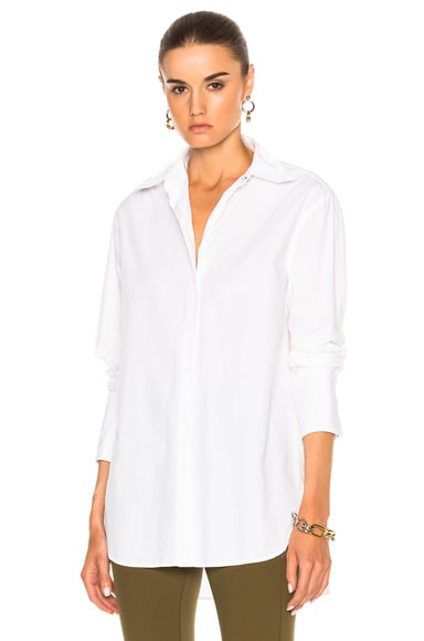 Rag & Bone Essex Poplin Shirt in Bright White