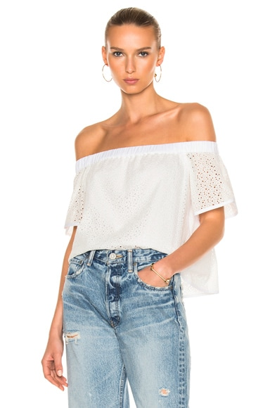 Rag & Bone Flavia Top in White