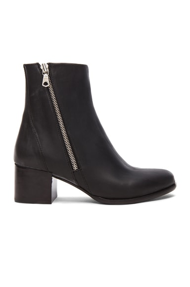 rag & bone Avery Leather Low Booties in Black
