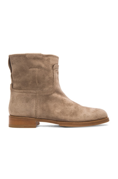 rag & bone Holly Ankle Boots in Stone Suede