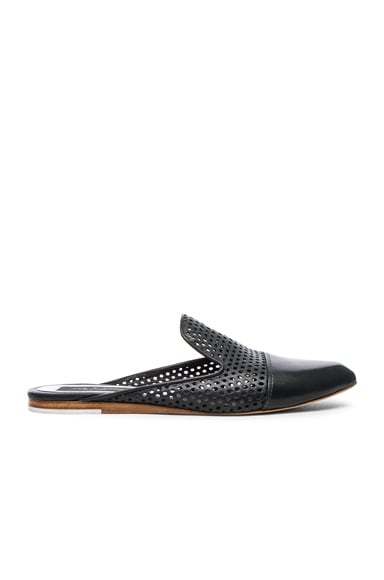 Rag & Bone Leather Sabine Loafers in Black Perforated