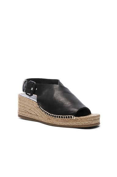 Leather Sienna Espadrille Wedges