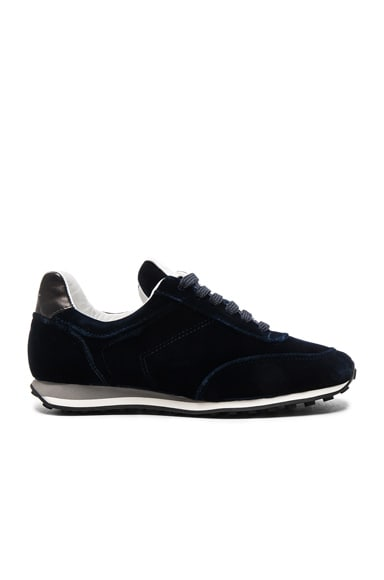 Rag & Bone Velvet Dylan Sneakers in Navy Velvet