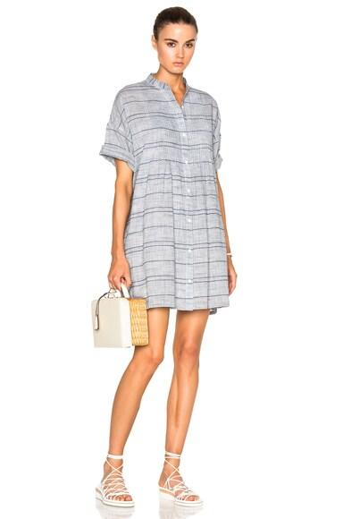 rag & bone/JEAN Pintuck Dress in Blue & White