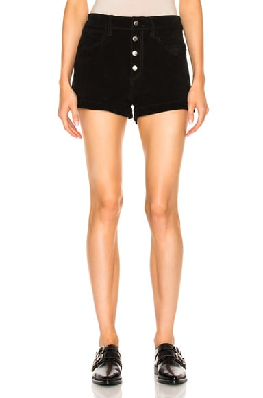rag & bone/JEAN Lou Short in Black Suede