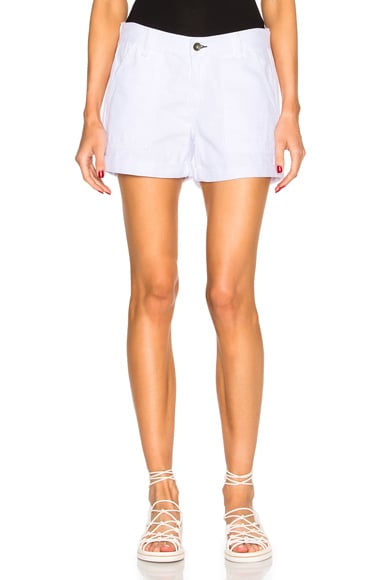 rag & bone/JEAN Carpenter Shorts in Aged Bright White