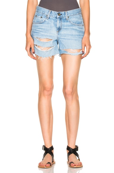 rag & bone/JEAN Boyfriend Short in Rye