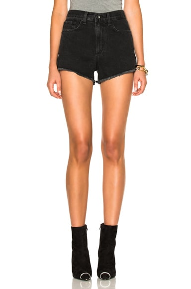rag & bone/JEAN Justine Short in Washed Black