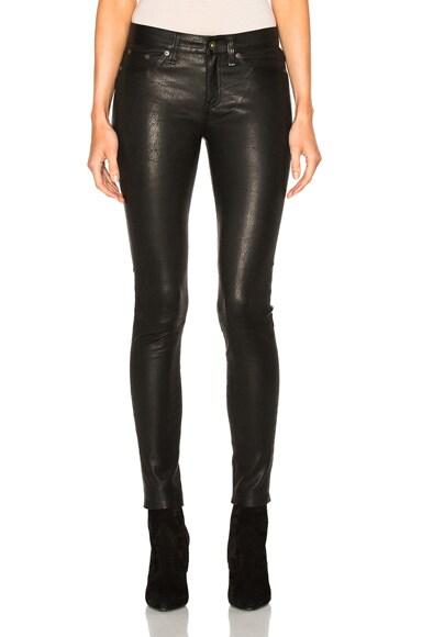 rag & bone/JEAN Skinny LB Pants in Washed Black