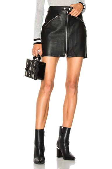 Racer Leather Skirt