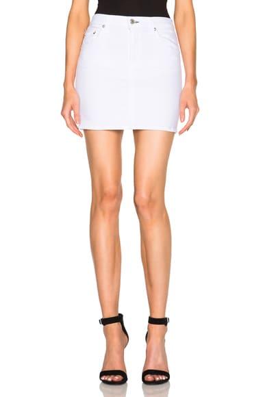 rag & bone/JEAN Mini Skirt in Bright White