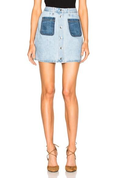 rag & bone/JEAN Mini Santa Cruz Skirt in Patch Varick