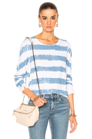 Washed Stripe Long Sleeve Tee