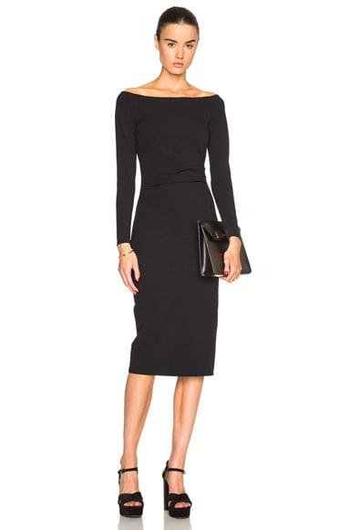 Raquel Allegra Off Shoulder Dress in Black