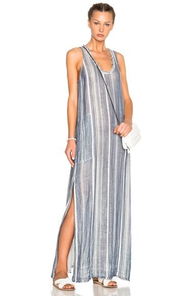 Raquel Allegra Tank Dress in Blue Stripe