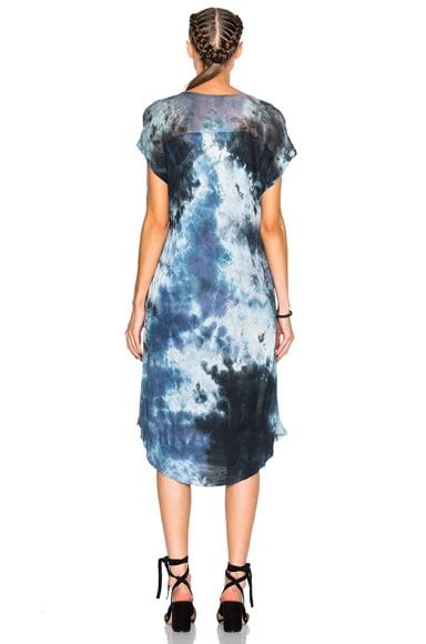 Shirred Combo Dress