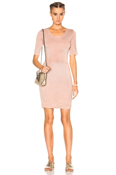 Raquel Allegra Jersey Twist Dress in Rose