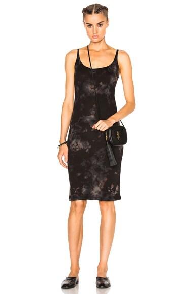 Raquel Allegra Layering Tank Dress in Black Tie Dye