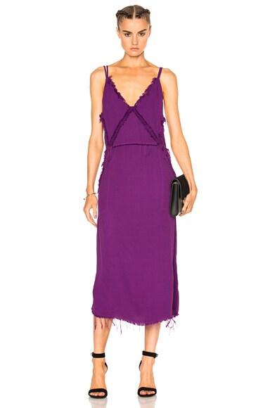 Raquel Allegra Diamond Slip Dress in Fuchsia