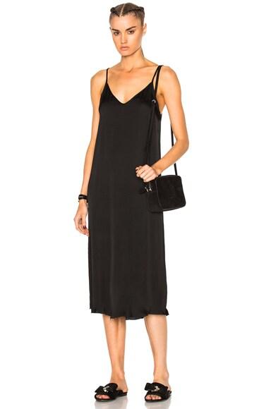 Raquel Allegra Slip Dress in Black