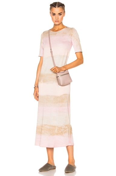 Raquel Allegra Short Sleeve Maxi Dress in Desert Blue Tie Dye