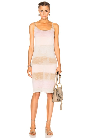 Raquel Allegra Layering Tank Dress in Desert Blush Tie Dye