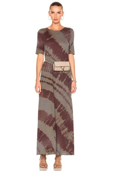 Raquel Allegra Drama Maxi Dress in Mulberry Tie Dye
