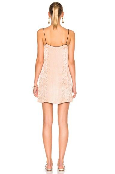 Silk Damask 90s Mini Dress
