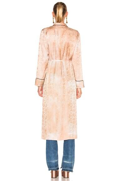 Silk Damask Robe Dress