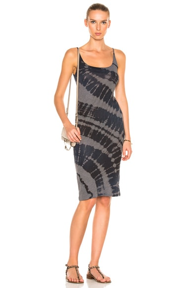 Raquel Allegra Layering Tank Dress in Midnight Tie Dye