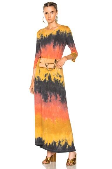 3/4 Sleeve Drama Maxi Dress