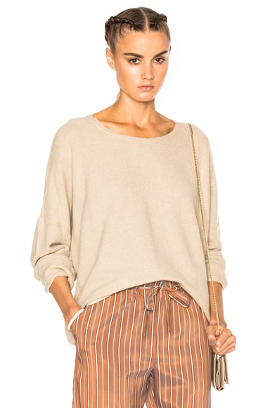 Raquel Allegra Big Sleeve Crop Sweater in Desert