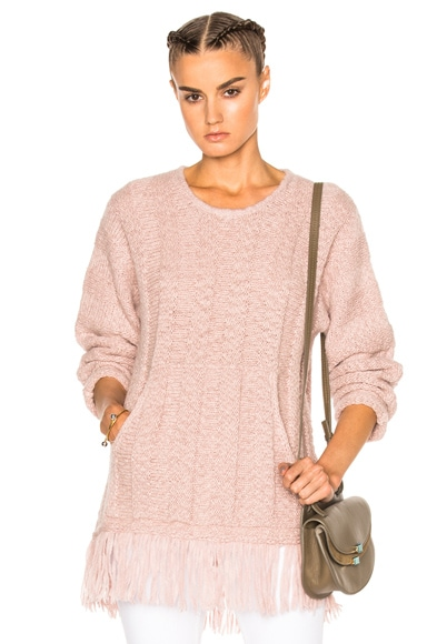 Raquel Allegra Baja Pullover Sweater in Rose Quartz