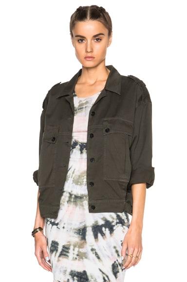 Raquel Allegra Military Jacket in Olive