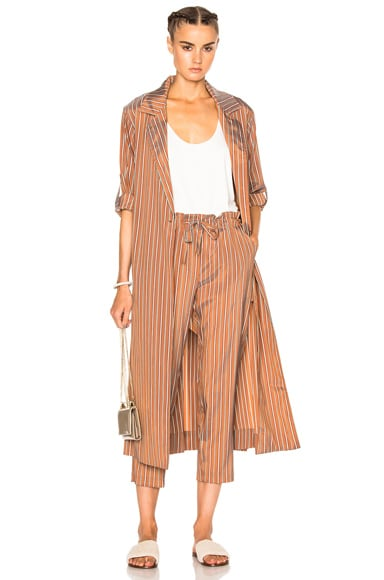Raquel Allegra Trench Robe in Copper Stripe
