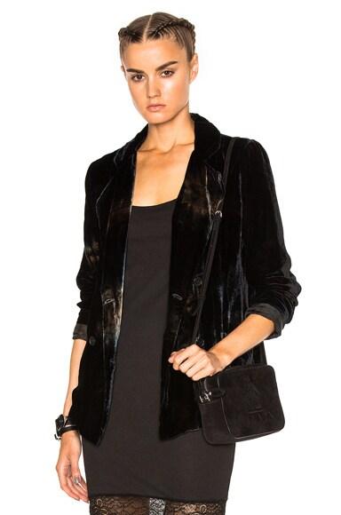 Raquel Allegra Single Breasted Blazer in Black & Rust