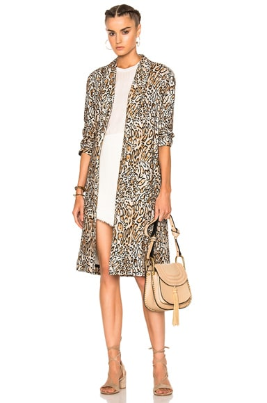 Raquel Allegra Swing Duster in Classic Leopard