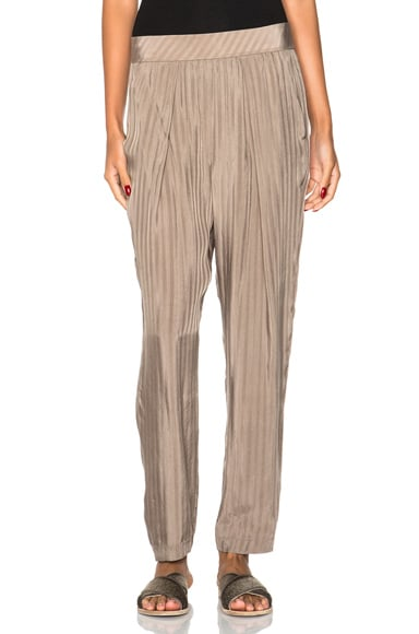 Raquel Allegra Easy Pants in Taupe