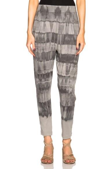 Raquel Allegra Easy Pants in Grey Tie Dye