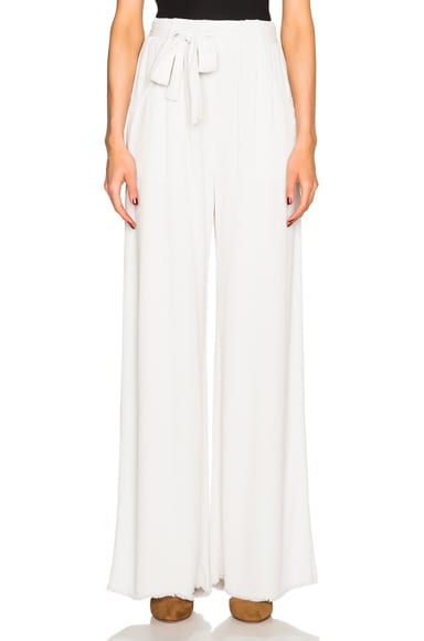 Raquel Allegra Belted Pants in Dirty White
