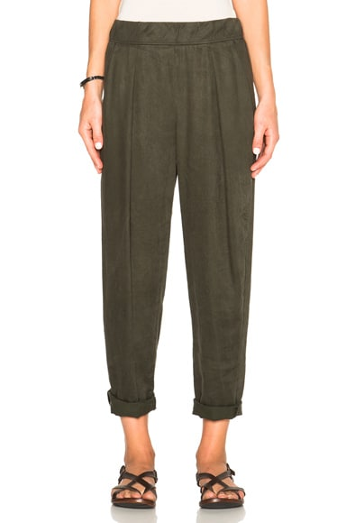 Raquel Allegra Easy Pants in Olive