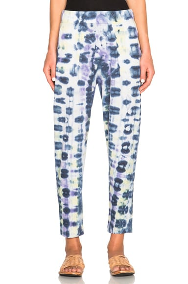 Raquel Allegra Easy Pants in Violet Tie Dye