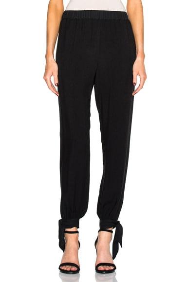 Raquel Allegra Ankle Tie Pants in Black