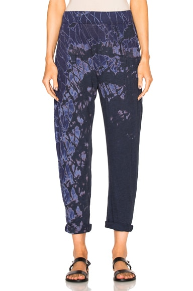 Raquel Allegra Easy Pants in Indigo Tie Dye