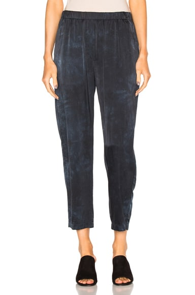 Raquel Allegra Relaxed Silk Pants in Slate Blue