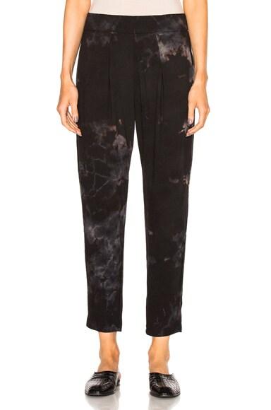 Raquel Allegra Easy Pants in Black Tie Dye