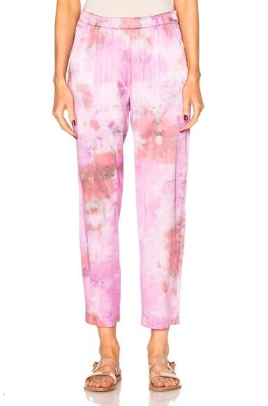 Raquel Allegra Relaxed Pants in Fuchsia Tie Dye