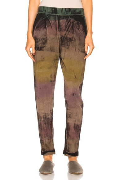 Raquel Allegra Easy Pant in Blue Gem Tie Dye