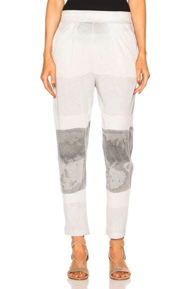 Raquel Allegra Easy Pant in Gray Ink Tie Dye